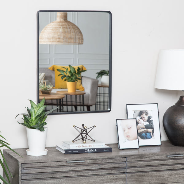 Salvo Black Rectangle Mirror