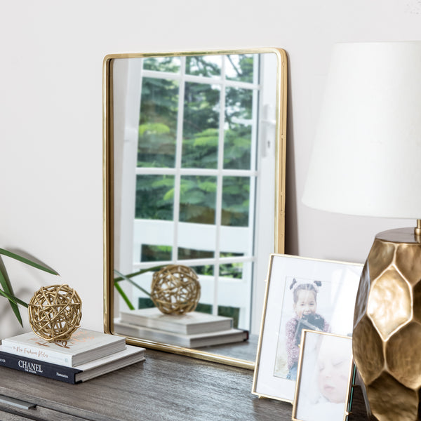 Salvo Gold Rectangle Mirror