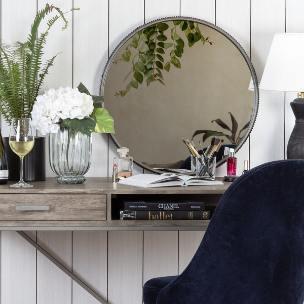 Wessex Modern Mirror With Designer Frame - Grey