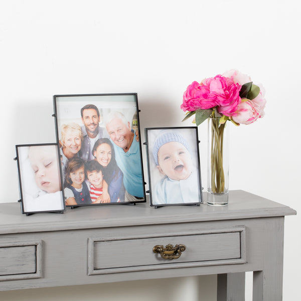 Bari 80 Black Square Rod Photo Frame