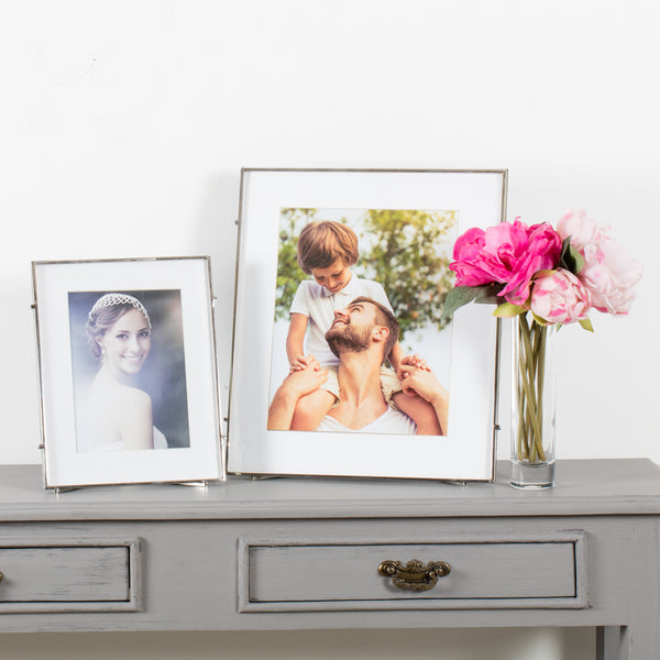 Barin 80 Silver Square Rod Photo Frame