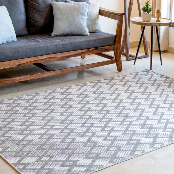 Ameline Dove Indoor/Outdoor Area Rug
