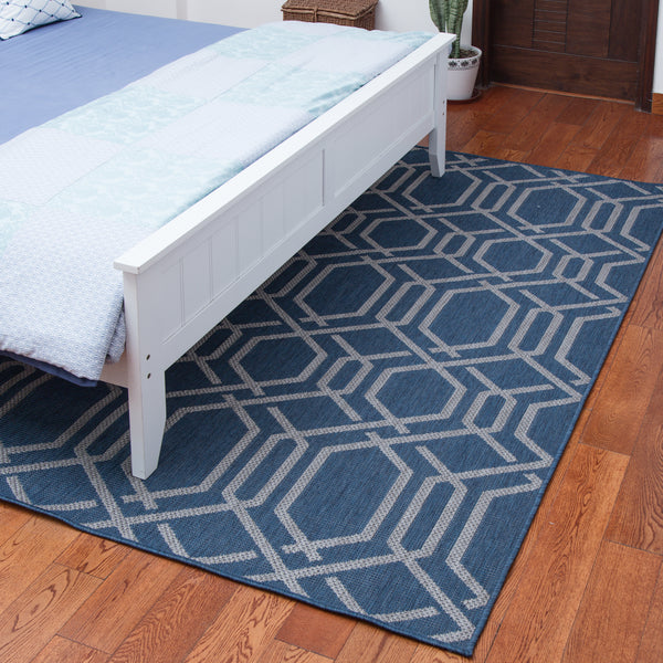 Elba Blue Indoor/Outdoor Area Rug