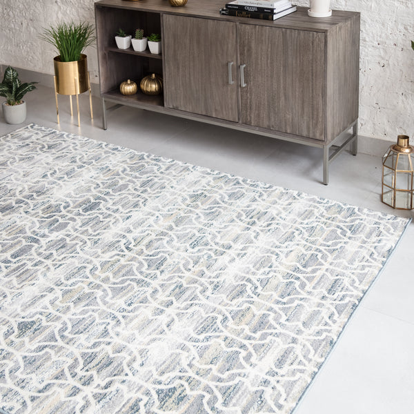 Margi Blue Microfiber Area Rug