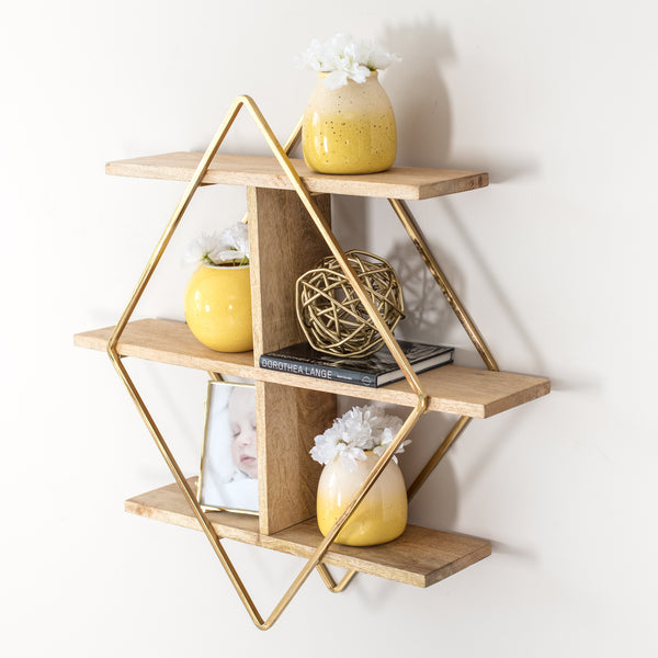 Tignes Wall Shelf - Gold