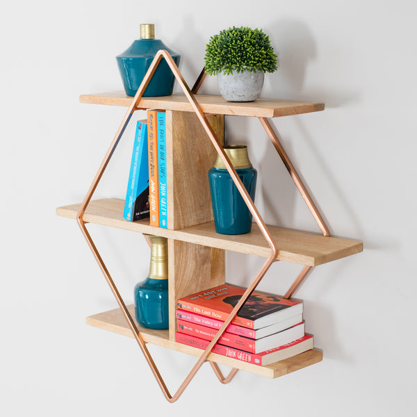 Tignes Wall Shelf - Rose Gold