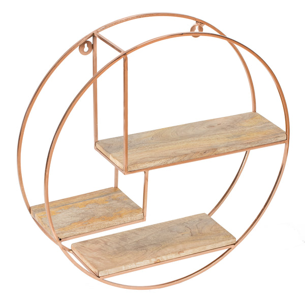 Marly Wall Shelf - Rose Gold