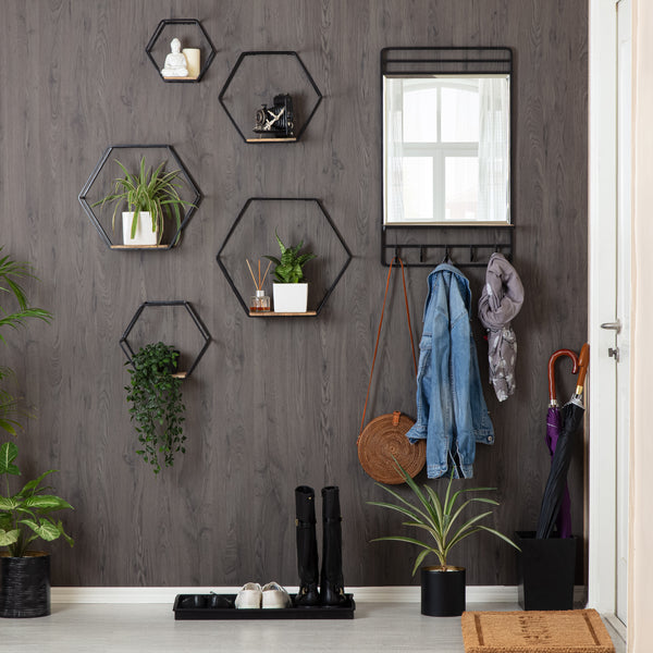 Haverstock Set Of 5 Hexagon Accent Shelf