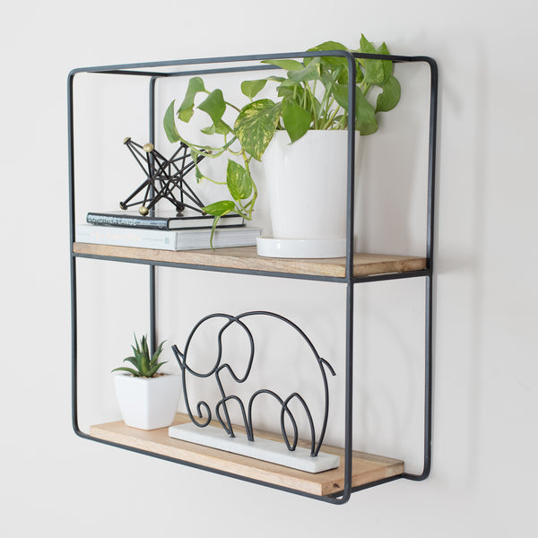 Flora Wall Shelf Black