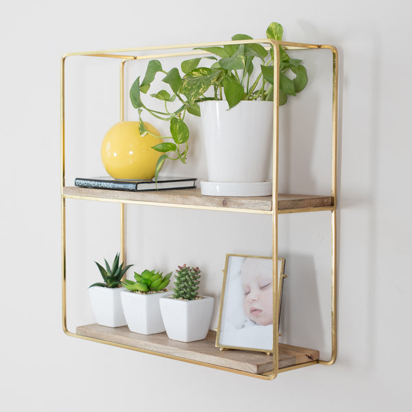 Flora Wall Shelf Gold