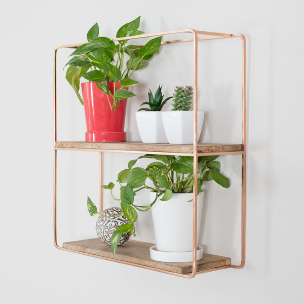 Flora Wall Shelf Rose Gold