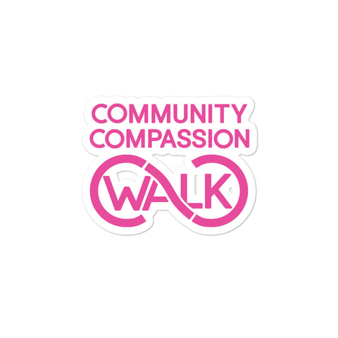 CC Walk Pink Bubble-free stickers