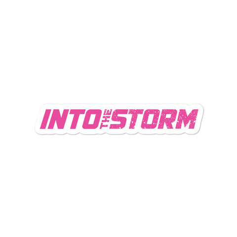 Into the Storm Pink Bubble-free stickers