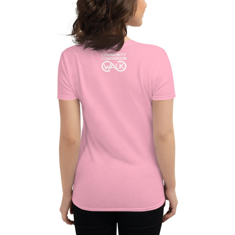 Women's CC Walk Pink short sleeve t-shirt