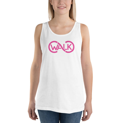 CC Walk White/Pink Unisex Tank Top