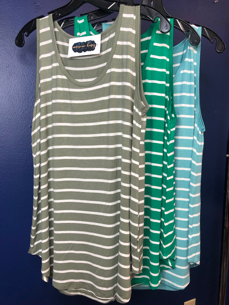 Striped Ultra Soft Tank