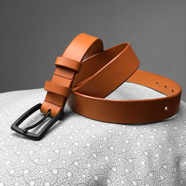 Stark Leathergoods Stark Leathergoods belt, tan, unisex, vegetable tanned leather