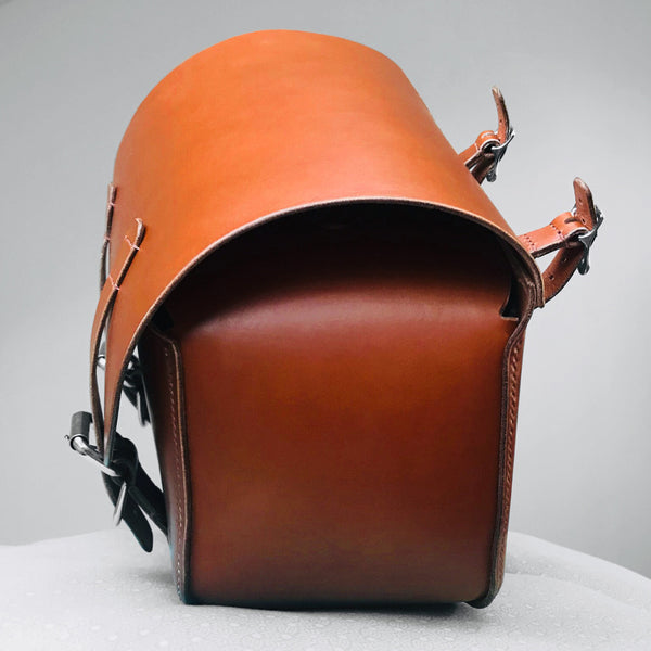 Motorcycle Pannier Mid Tan