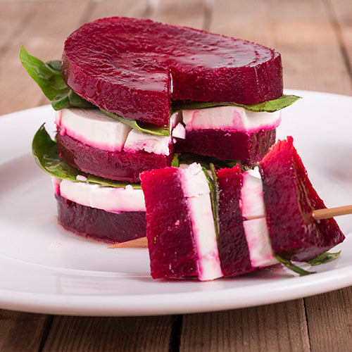 Roasted Beet Caprese Salad