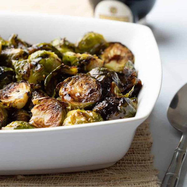 Balsamic Garlic Orange Brussel Sprouts