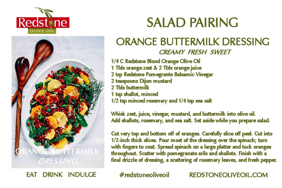 Orange Dijon Buttermilk Dressing