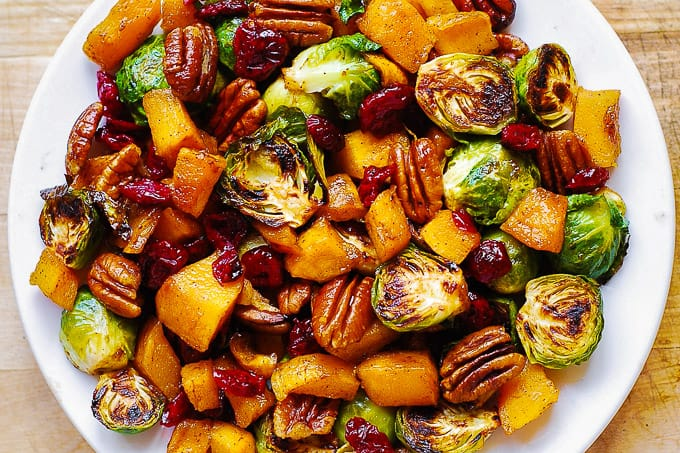 Pecan Cranberry Cinnamon Veggies