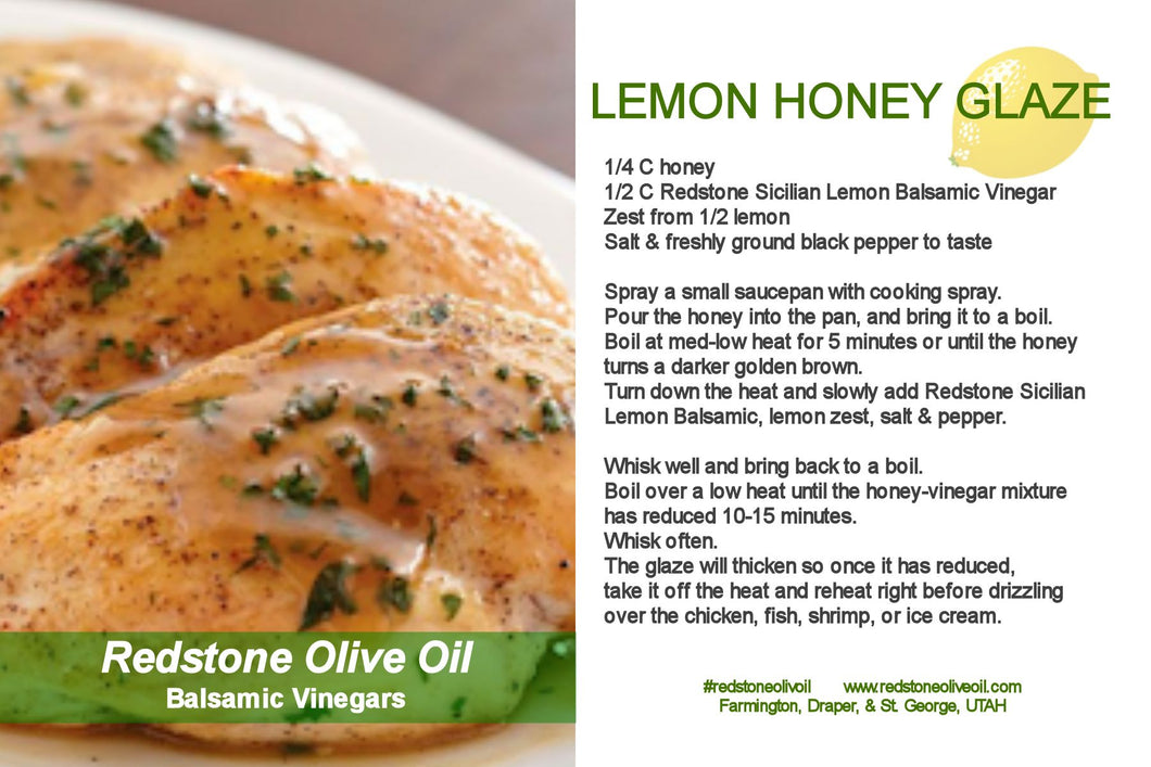Sicilian Lemon White Balsamic Honey Glaze
