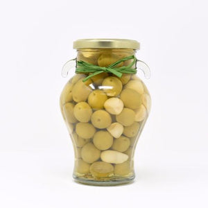 Manzanilla Olives with Rosemary and Garlic