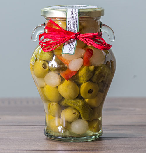Pickled Mix with Olives, Gherkins, Peppers, Chilis & Onions