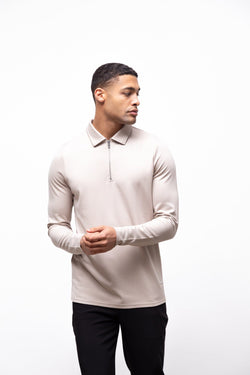 Premium Long Sleeve Polo Sand 2.0