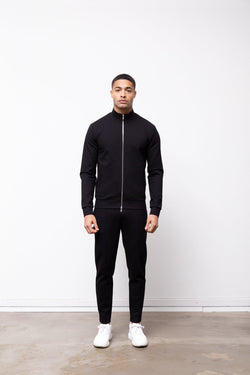 Premium Track Zip Jacket Black