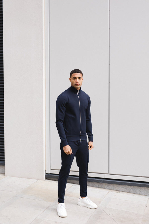 Premium Track Zip Jacket Navy