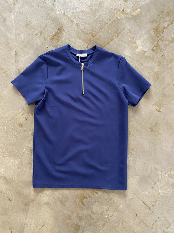 Premium Zip T-Shirt NAVY