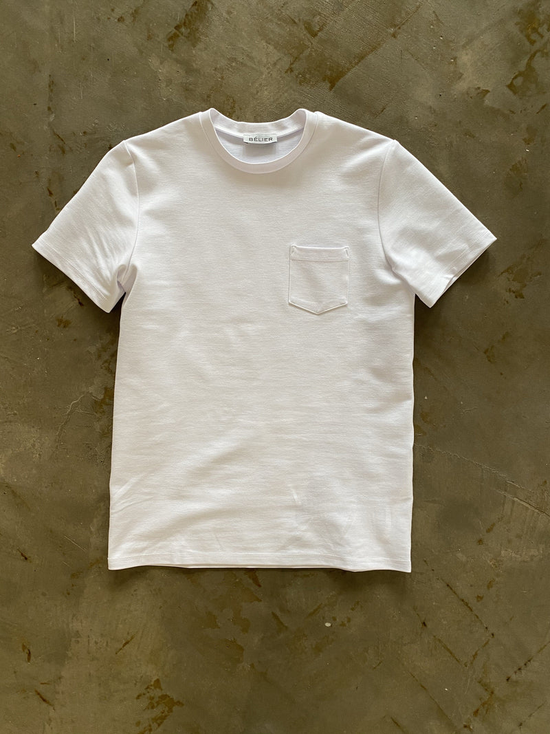 Premium Pocket tee WHITE