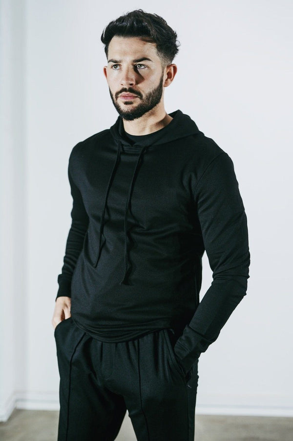 Tailored Premium Hoodie BLACK