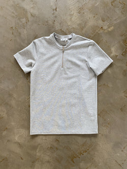 Premium Zip T-Shirt GREY