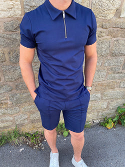Premium Zip POLO NAVY