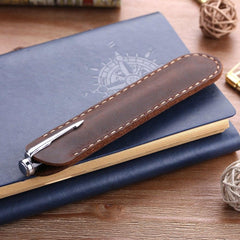 Handmade Genuine Leather Fountain Pen Bag