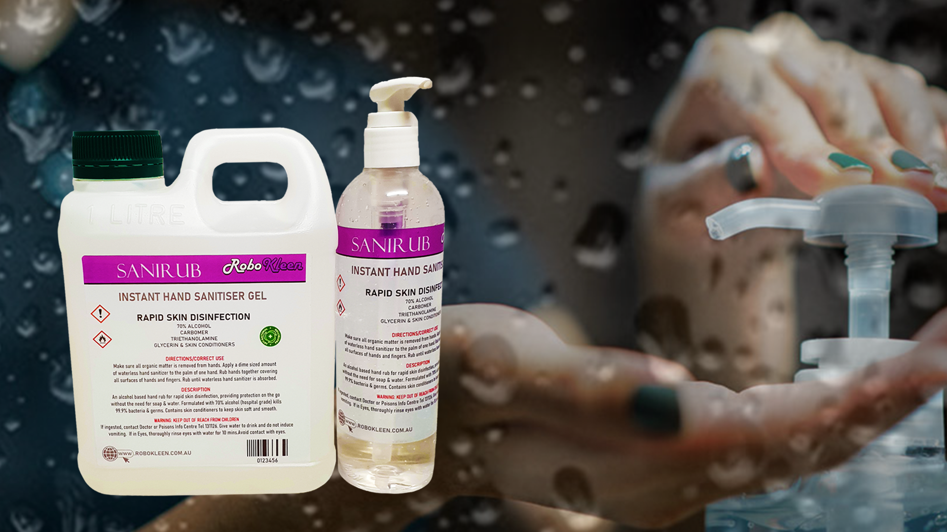 Sanirub rapid skin disinfection