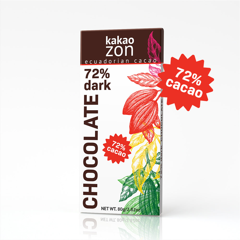 72% cacao dark Chocolate bar