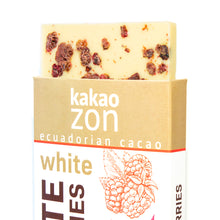 Load image into Gallery viewer, KakaoZon White Chocolate with Raspberries • 2.82oz Bar