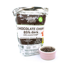 Load image into Gallery viewer, KakaoZon 85% Dark Chocolate Chips with coconut sugar • 35.27oz