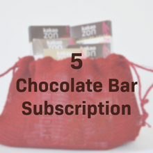 Load image into Gallery viewer, 5 Chocolate Bar Subscription