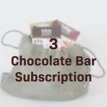 Load image into Gallery viewer, 3 Chocolate Bar Subscription