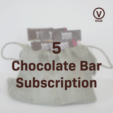 Load image into Gallery viewer, Vegan 5 Chocolate Bar Subscription