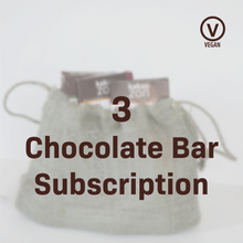 Load image into Gallery viewer, Vegan 3 Chocolate Bar Subscription