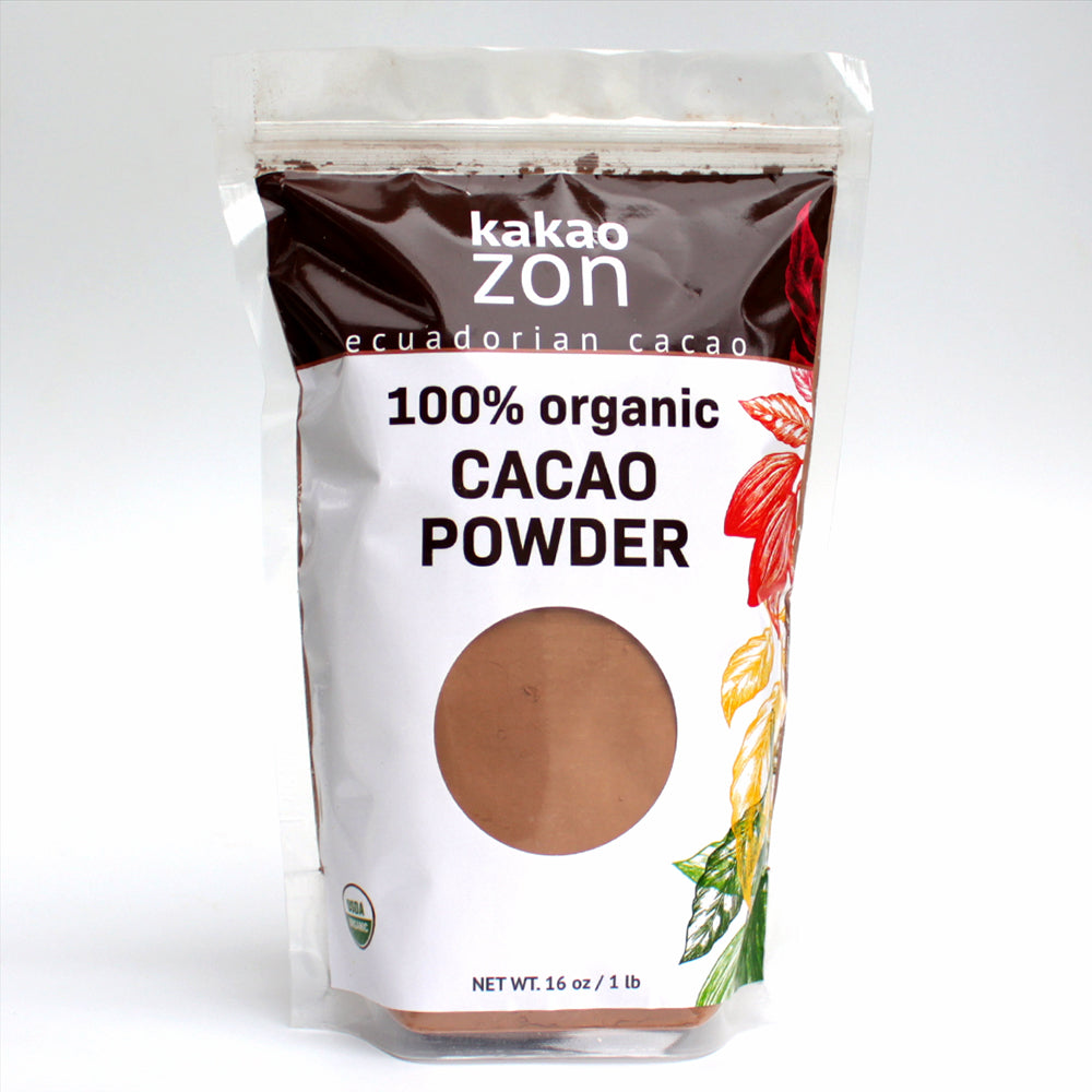 KakaoZon 100% Organic Cacao Powder • 16oz