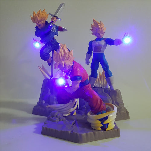 Lampe DBZ Goku Trunks Vegeta (LED)-Saiyan Spark