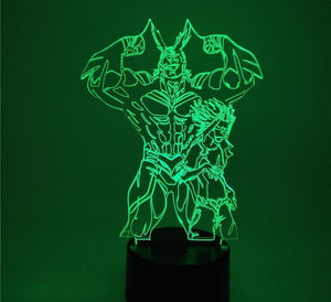 All Might Lampe 3D - My Hero Academia - With remote control