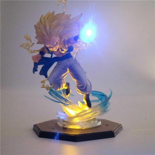 Figurine-Led Gotenks SSJ3 - Base jaune